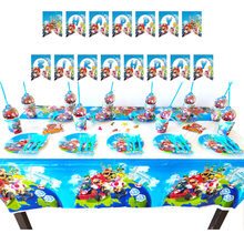 Desenhos animados super mario odyssey tema festa de aniversário das crianças suprimentos banner chá de fraldas crianças festa de aniversário chuveiro decoração