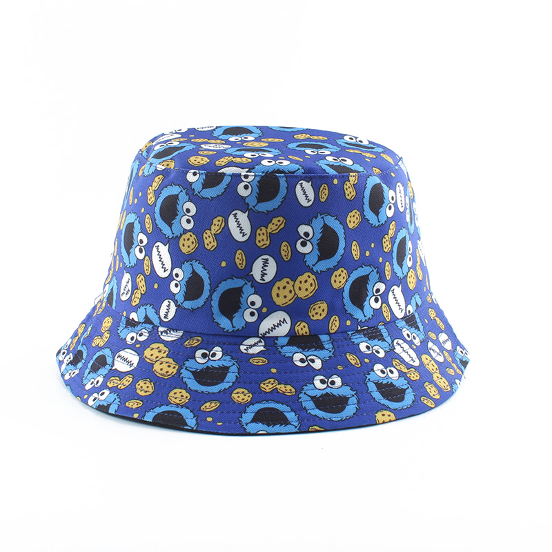 H2e9205eac40f4ee2b628c1224dc99f80e - Summer Fisherman Hat Reversible Cartoon Bucket Hats For Women Men Street Hip Hop Bucket Cap Vintage Printed Fishing Hat