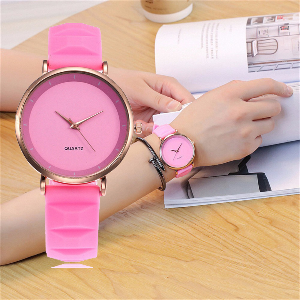 Vansvar Candy Color Watch Fashion Jelly Silicone Women Watches Casual Ladies Watch Clock Women's Wrist Watch Relogio Masculino