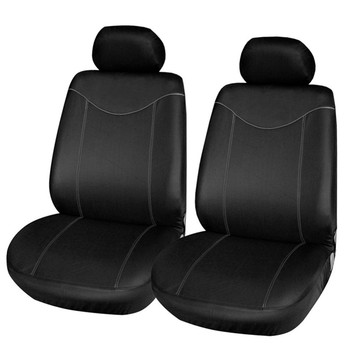 4PC Universal Car Seat Cover Full Seat Covers Auto Interior Styling Fit for Hyundai Sonata Elantra Genesis BMW Toyota image