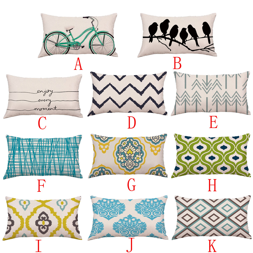1 PC 30X50 Cm Geometric Lines Waist Pillowcase Bed Home Festival Pillow Case Sleeping Lumber Pillow Cover #45