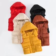 2019 Warm Winter Girls Cotton Vest Autumn Kids Boys Sleeveless Jacket 2-10 Years Child Baby Girls Coat Baby Boy Clothes цены онлайн