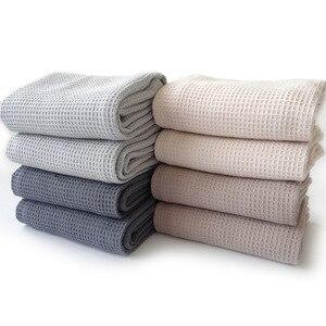 4 sztuk bawełna wafel krata ręcznik kuchenny obrus serwetka strona główna wesele naczynia kuchenne serwetki dekoracyjne chusteczki ręczniki