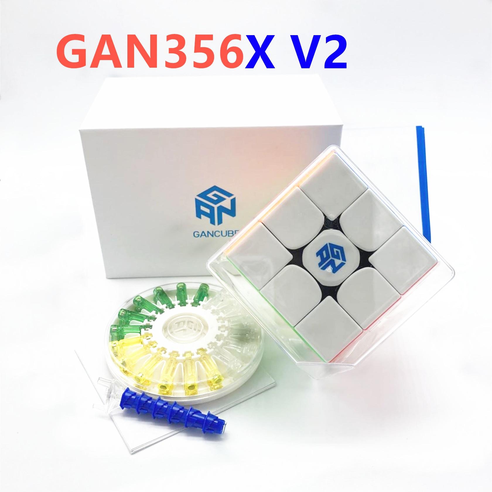 GAN356X V2 3x3x3 cube GAN356 X V2 3x3 Magnetic Speed cube Magic gan356 X V2 GAN 356 X V2 Puzzle magnet Cube for adults kids Toys