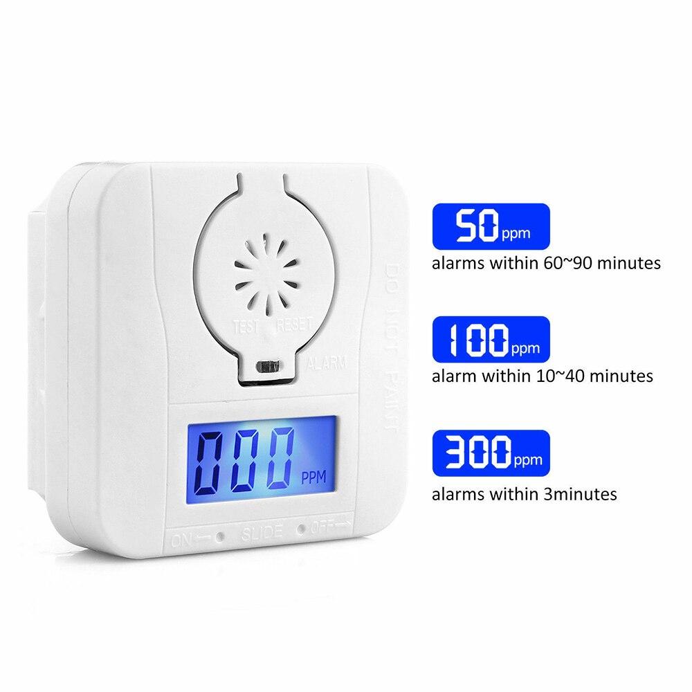 CO Sensor Carbon LCD Carbon Monoxide Detector Digital Warning Smoke Alarm Battery Power CO Detector Alarm Security Alarm