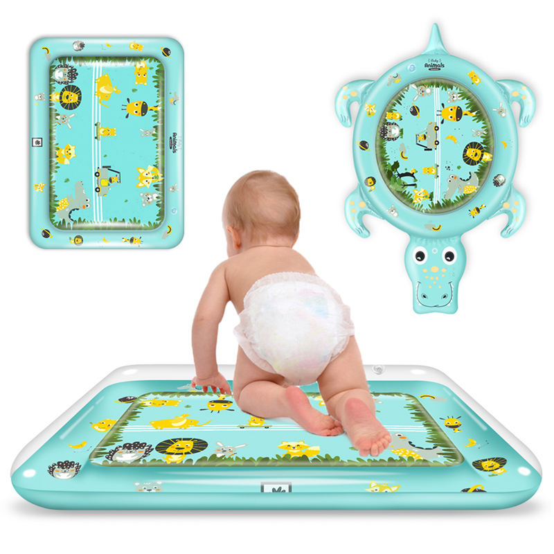 Dropshipping New Designs Baby Kids Water Play Mat Inflatable Playmat Toddler For Baby Activity Play Center PVC Infant Tummy Time