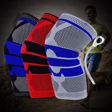 1PC Sports Kneepad Men Wonmen Pressurized Elastic Knee Pads Support Fitness Gear Basketball Volleyball Brace Protector