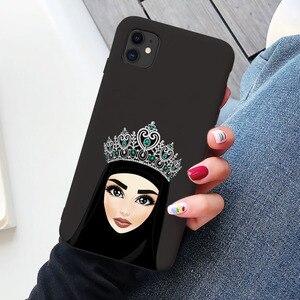 Image 4 - Luksusowa kobieta korona hidżab twarz muzułmanin islamski Gril oczy pokrywa etui na telefony dla Iphone 11 Pro Max X 6S 7 8 Plus XR XS MAX SE 2020