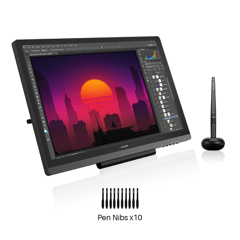 Pen Tablet Monitor Pen-Display Levels Graphics Drawing Glass Art Digital Professional