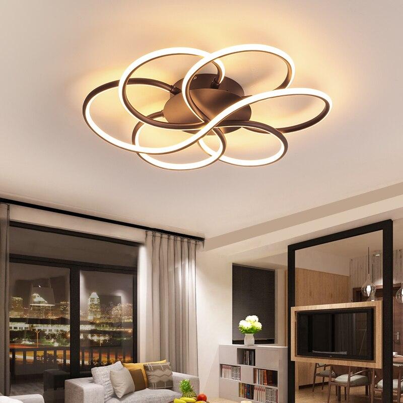 NEO Gleam Neue Ankunft Oberfläche Montiert Moderne Led Kronleuchter Für Wohnzimmer Study Room Schlafzimmer Dimmbare 110 220V Decke Kronleuchter