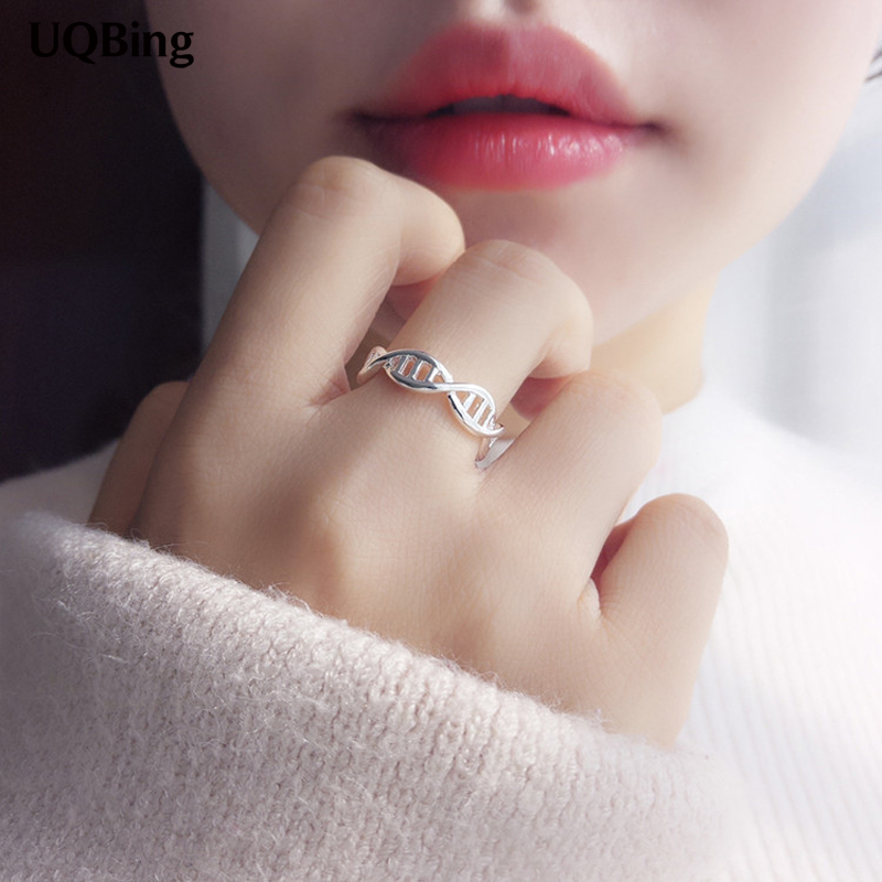 925 Sterling Silver Creative Small Fresh Woven Rings Sweet Hollow Wave Fish Rings For Women 2020