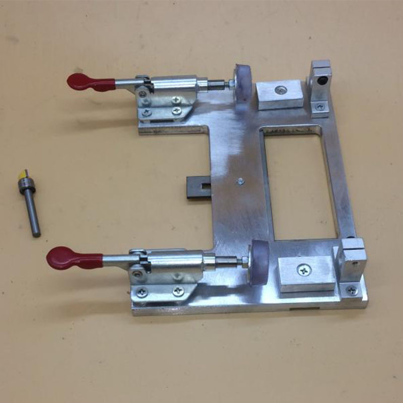 Woodworking Installation Universal Positioning Opening Hinge Template Locator With Hinge Puncher Tool Drill Hole
