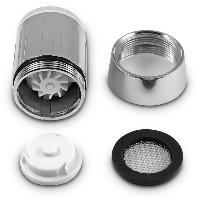 Zhang Ji LED Temperature Sensitive 3-Color Light-up Faucet Kitchen Bathroom Glow Water Saving Faucet Aerator Tap Nozzle Shower 6