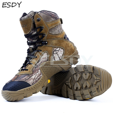 Esdy Brand Winter Boots Men Military Boots Tactical Desert Combat Ankle Boots Army Work Shoes Men Leather Boots Winter Men Shoes military tactical boots desert combat outdoor army hiking travel botas shoes leather autumn ankle men boots winter boots