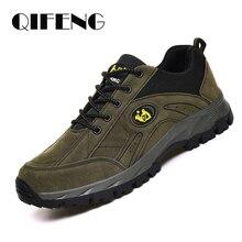 Zapatos informales cálidos de talla grande para hombre y mujer, zapatillas de deporte de cuero para caminar al aire libre, calzado deportivo para Otoño e Invierno