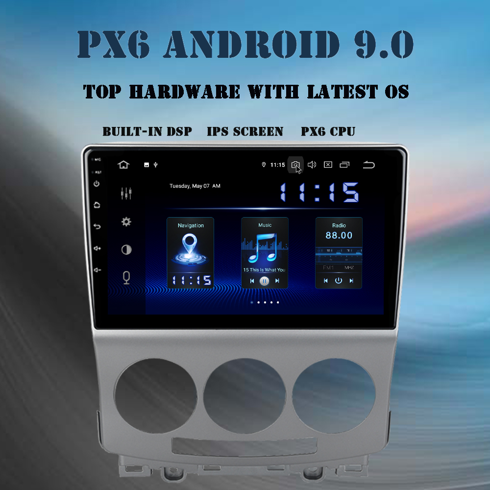 Car 1 din IPS Android 9.0 Multimedia player For 2010-2015 Mazda 5 car stereo PX6 headunit GPS navi TDA7850 DSP output radio image