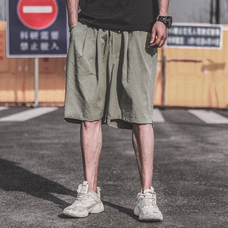 Loose Men Casual Shorts Summer Fashion Cotton Stretch Shorts Men With Pockets Thin Short Cargo Kleding Fitness Clothing XX60MS