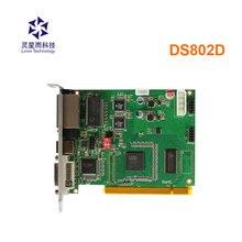Linsn DS802d Đồng Bộ Gửi Thẻ Đèn Led Video Bộ Điều Khiển Làm Việc Với Rv908m32 Nhận Được Thẻ Cho Đèn Led Video Treo Tường Bộ Điều Khiển