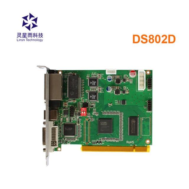Linsn tarjeta de envío síncrona DS802d, controlador de vídeo led que funciona con Tarjeta receptora rv908m32 para controlador de pared de vídeo led