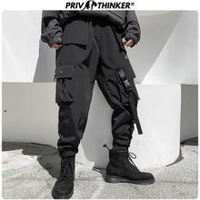 Privathinker גדול כיס מכנסיים מטען גברים של היפ הופ Streetwear שחור אופנה אביב מכנסיים 2019 איש נשים בבאגי חובבי ריצת מכנסייםמכנסי הרמון