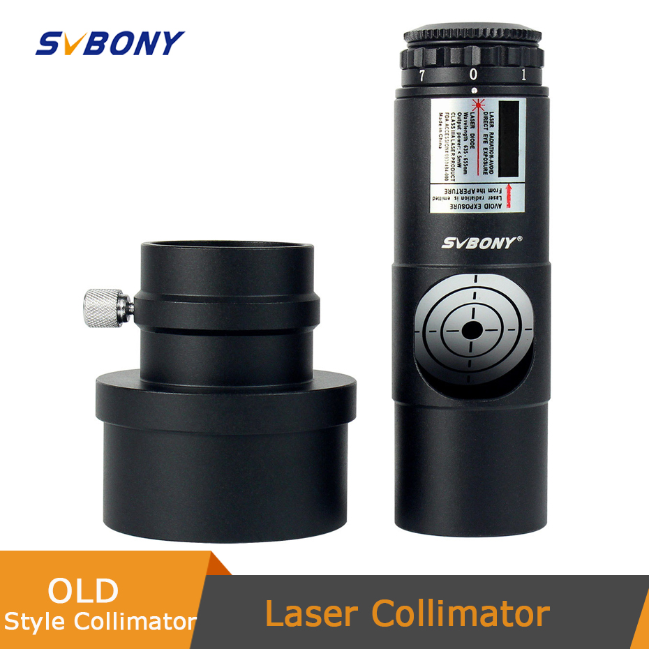 SVBONY 1 25inch Telescope Collimator 2inch Adapter of Reflector Telescope Newtonian SCA Laser Collimation 7 Brightness Level F9123A