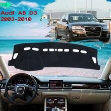 Deska rozdzielcza dywanik mata na deskę rozdzielczą unikaj lekkiej podkładka dywanowa do Audi A8 D3 2003 ~ 2010 4E s-line 2006 2007 wewnętrzna samochodów-akcesoria-towary