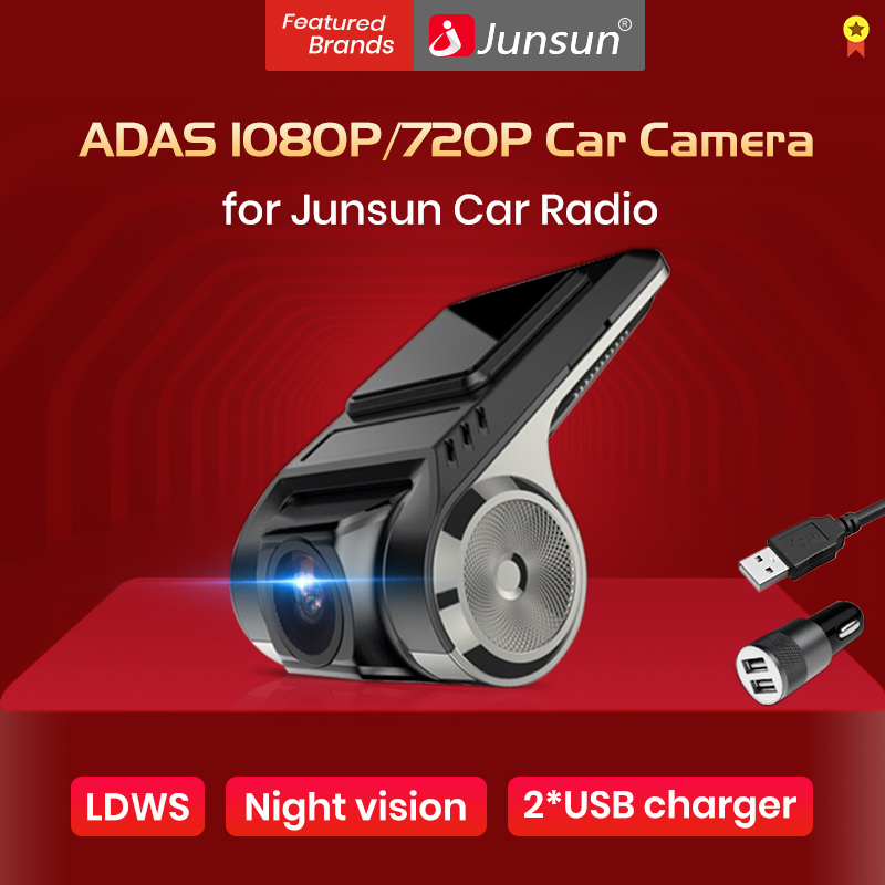 Junsun S500 ADAS rejestratory samochodowe Full HD kamera na deskę rozdzielczą kamery systemu ostrzegania przed niezamierzoną zmianą pasa ruchu rejestrator samochodowy 2018 ukryty typ dla Android odtwarzacz multimedialny DVD