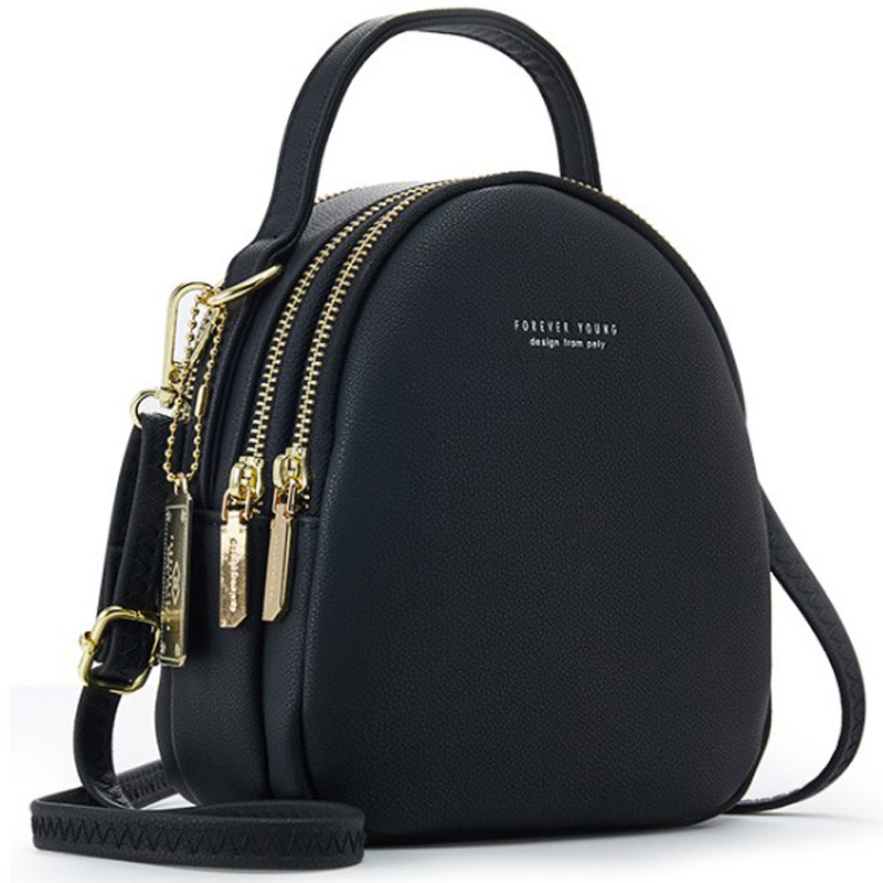 Women Mini Backpack PU Leather Soft Touch Small Backpack Multi-Function Female Ladies Shoulder Bag