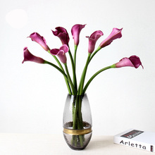 12pcs Real Touch PU Artificial Calla Lily Flowers 53cm Long Home Wedding Decoration Fake Flower pu real touch artificial calla flower bonsai
