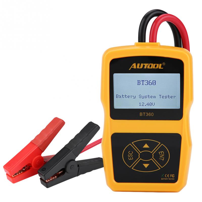 New BT360 car battery tester Automotive Load Battery System Tester Digital Analyzer Cell Test Tool Multi-language Load Tester