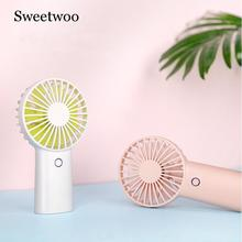 4000MAH Rechargeable USB Handheld Mini Fan Third Gear Silent Strong Wind Personal Air Cooler Portable Desk Fans For Home Office цена и фото