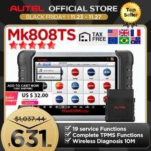 Autel MaxiCOM MK808TS OBD2 블루투스 스캐너 자동차 진단 도구 OBD 2 코드 리더 TPMS 센서 PK DS808 MK808 TS608 프로그래밍