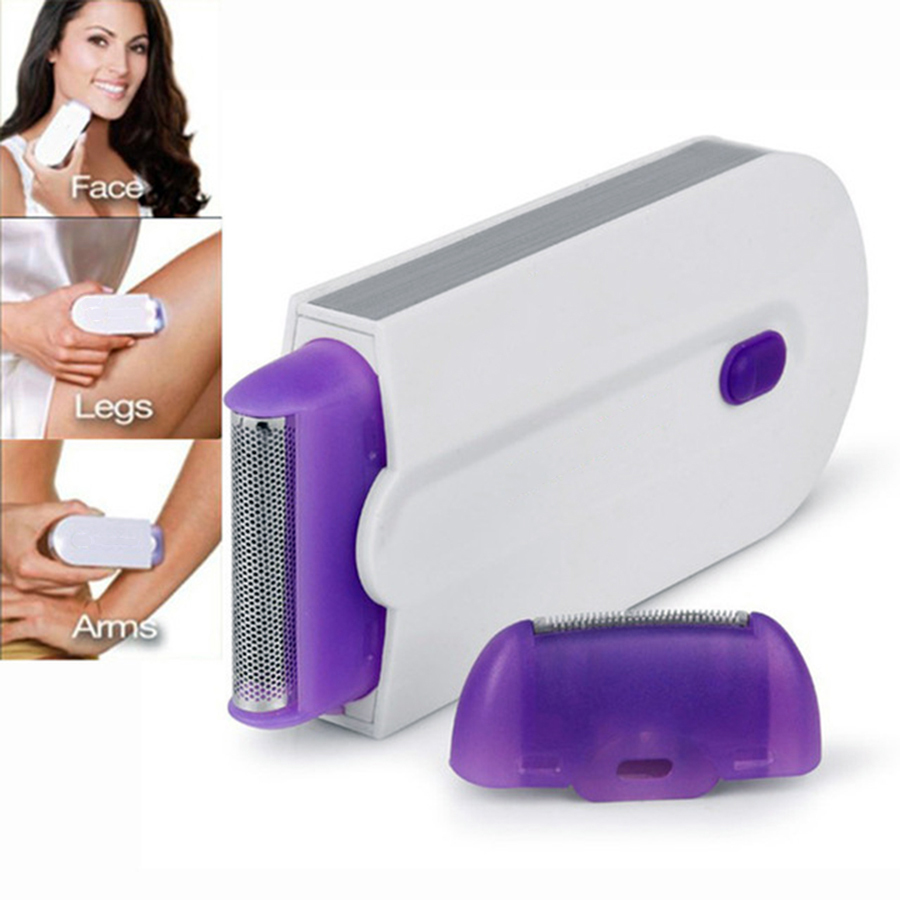 2 in 1 Electric Epilator Women Hair Removal Painless Women Hair Remover Shaver Instant & Painless Free Sensor Light USB Recharge