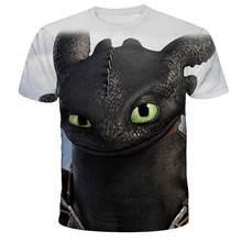 2021 NEW Fashion T-shirt Your Dragon 3D Printing T-shirt Cartoon T-Shirt Boy/Girl/Baby T-Shirt Short Sleeve O-Neck4T-14T