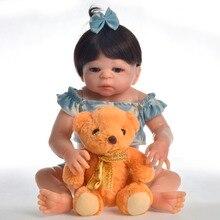 NPK dolls 48cm  Bebe Reborn menina Full Body Silicone Reborn