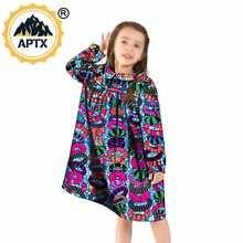 Платья для девочек в африканском стиле; Платье с длинными рукавами;