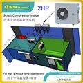 Конденсаторный блок с воздушным охлаждением  2HP с компрессором прокрутки  предназначен для различных целей  таких как холодные комнаты
