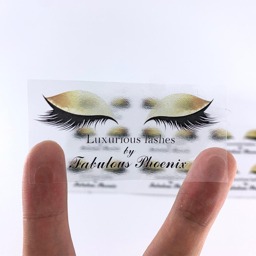 100 Pcs Su Misura Personalizzati Adesivi Chiari, Logo, Ciglia Adesivi, Balsamo per le labbra Rossetto Etichette, Lipgloss Tubi Adesivi