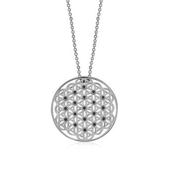VAOOV Flower of Life 925 Sterling Silver Necklace