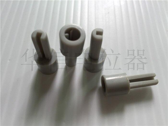 20pcs Mixer Potentiometer Lengthening Shaft Grey Plastic Extension Shaft 10MMX25MM Half Shaft Hole 6MM