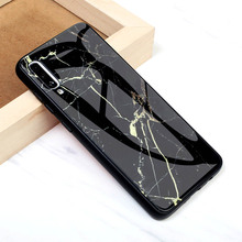 For Samsung Galaxy A50 A30 Tempered Glass Case Cover Marble Patter Protector Etui Coque A10 A20 Housing