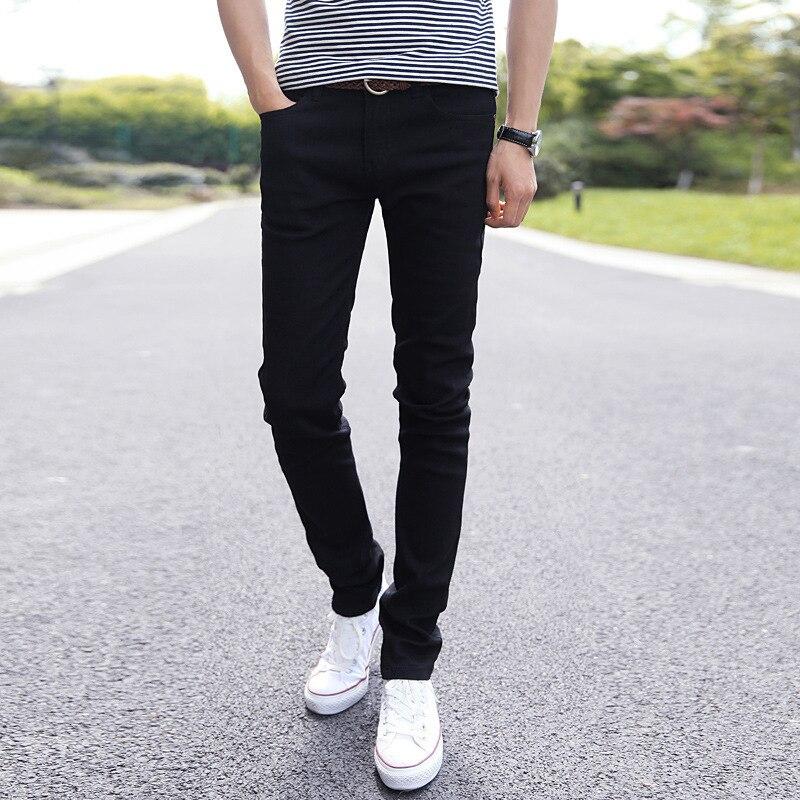 Autumn New Style Jeans Men's Slim Fit Autumn And Winter Men's Trousers Korean-style Trend Elasticity Men Skinny Trousers Men'S W