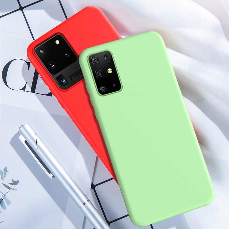 Voor Samsung S20 Ultra Case Vloeibare Siliconen Soft Cover Voor Samsung Galaxy S20 Plus A51 A71 A50 S10 5G s9 S8 Plus Note 8 9 10 Case
