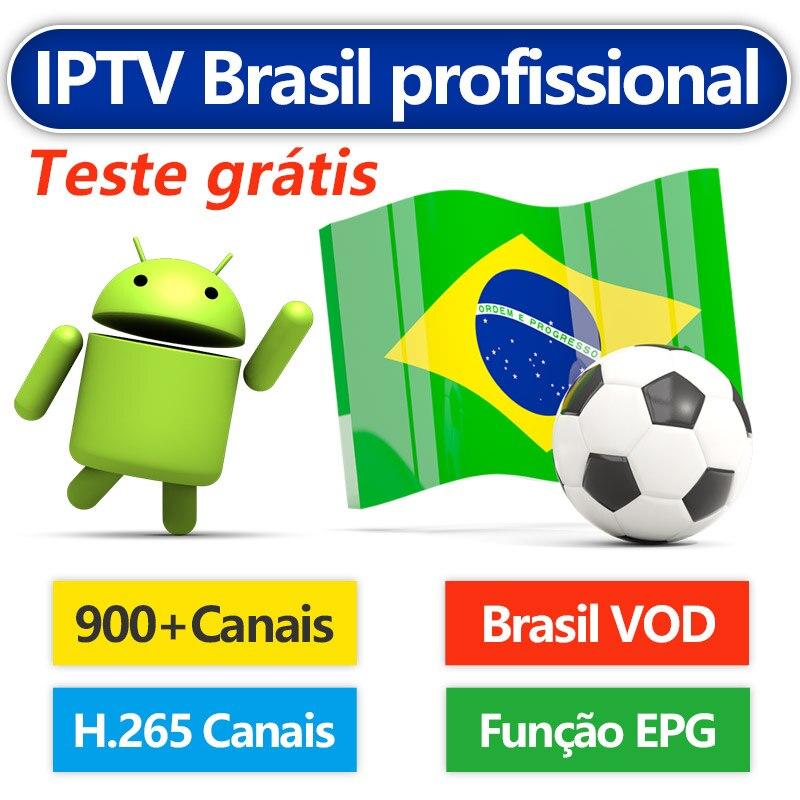IPTV Brazil Android IPTV Subscription BLADE 900+ Channels Live H.265 EPG Free VOD Portuguese IPTV Brasil Abonnement IP TV