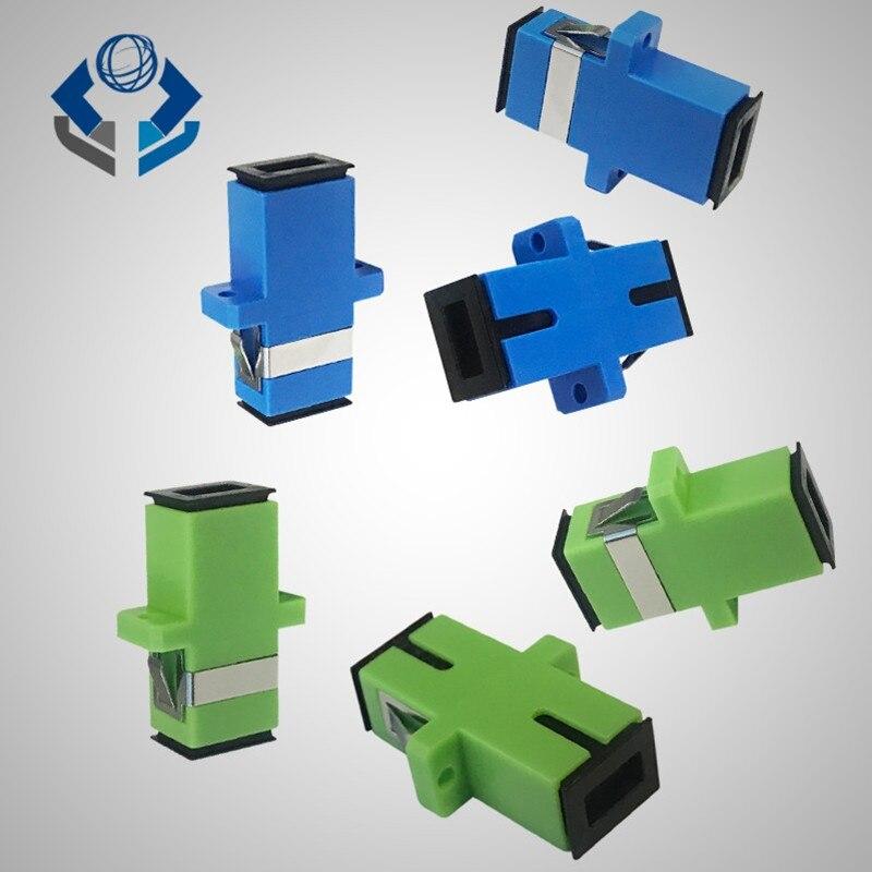 100 Pieces. Ftth Conector Sc Apc Fiber Optic Connector Sc/upc  Adapter Sc-sc Apc  Conector Fibra OptiFree Shipping
