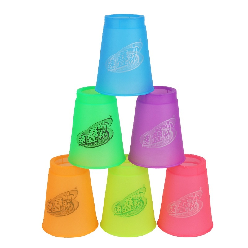 Yuxin Science New Style Jelly Color Stacking Cups 4 Generation Children's Version Of The Athletic Stacking Cup Kindergarten Trai