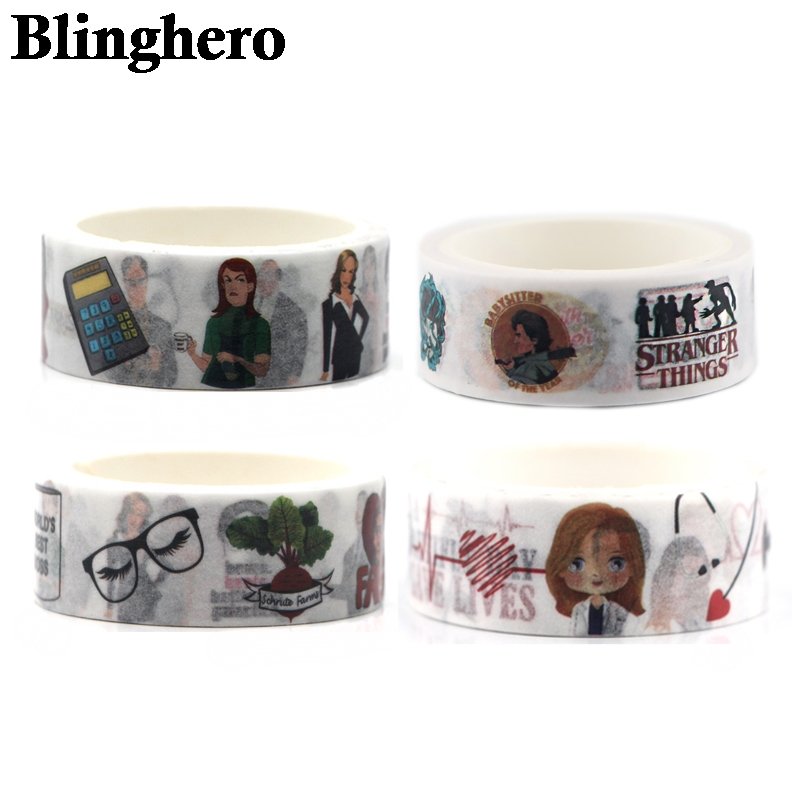 CA758 4piece/set Classic TV Show Office Washi Tape Adhesive Tape DIY Sticker Scrapbooking Masking Tape Stationery Sticker