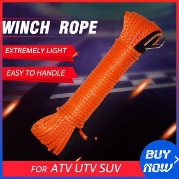 5MM*15M 4MM*15M ATV Winch Rope,Synthetic Rope,ATV Winch Accessories,Boat Winch Cable,Winch Rope largo winch vol 12