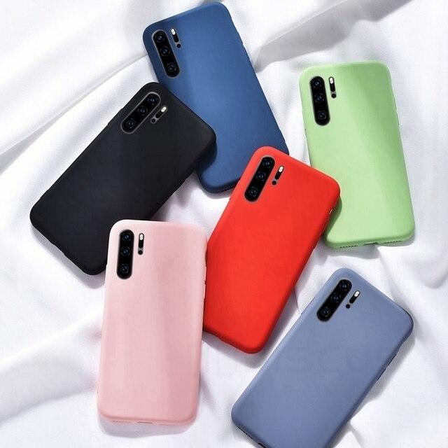 Dla Huawei P10 P20 P40 P30 Mate 9 20 10 30 Pro Lite Case oryginalny płynny silikonowy pokrowiec dla Huawei Nova 2S 3i 4 5i 6 7 SE Coque