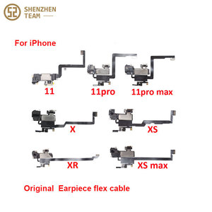 Image 1 - SZteam earpiece flex cable for iPhone X XS MAX XR 11 11pro 11promax original pulled Original Earpiece Replacement Parts